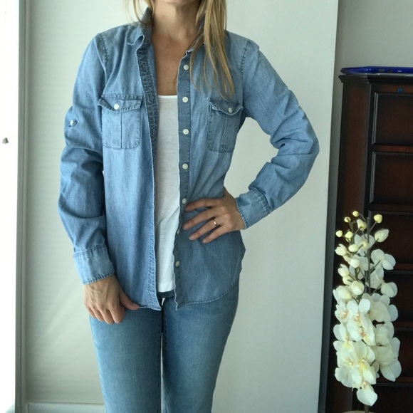 0afd9604b00 J. Crew Factory Tops - J. Crew Factory Classic chambray shirt perfect fit